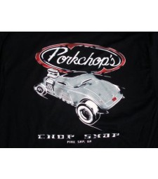 Pork Chop Hot Rod T Black - Large