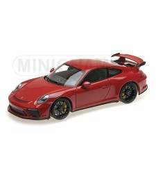 PORSCHE 911 GT3 – 2017 – RED W/ BLACK WHEELS L.E. 666 pcs.
