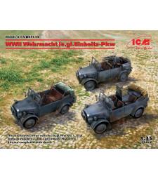 1:35 WWII Wehrmacht le.gl.Einheitz-Pkw (le.gl.Pkw Kfz.1, le.gl.Einheitz-Pkw Kfz.2, le.gl.Einheitz-Pkw Kfz.4)