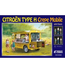 1:24 Citroen H Crepe mobile with Figures