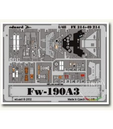 1:48 Photo-etched parts for Fw 190A-3, coloured (TAMIYA)