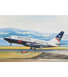 1:144 Boeing 737-200 American short-haul airliner, British Airways