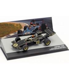 1972 Lotus 72D John Player Team Lotus #8 Emerson Fittipaldi Winner Great Britain Gp F1, Black/Gold