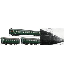 "3 piece set ""Passenger train Murnau-Oberammergau"", DB, epoch IV"