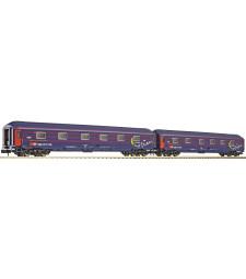 Sleeper cars 2 psc set WLAB of the Swiss Federal Railways (SBB)