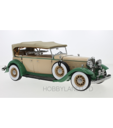Ford Lincoln KB, Beige and Green, Closed Canopy