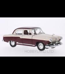 Wolga / GAZ M21, dark red/light beige, 1957