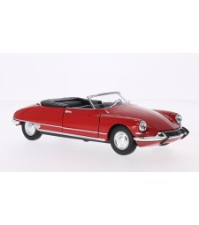 Citroen DS 19 Convertible, red, canopy opened