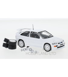 Ford Escort RS Cosworth, white, Plain Body Version, including 4 spare wheels and extra headlights, 1994