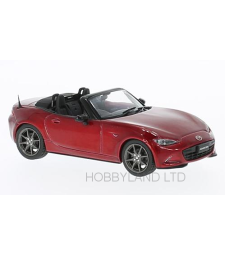 Mazda MX-5 Roadster, metallic-red, RHD, 2015