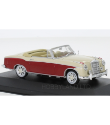 Mercedes 220 SE (W128) Convertible, dark red/beige, 1958