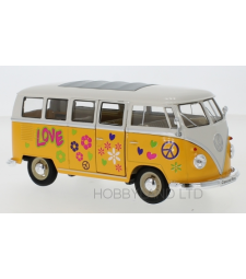 VW T1 bus, dark yellow / white, Flower Power, 1963