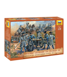 1:72 SWEDISH ARTILLERY CHARLES XII - 37 figures