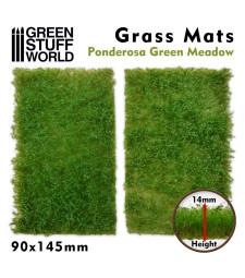 Grass Mat Cut-Outs 90x145mm PONDEROSA GREEN MEADOW 14mm (2pc)