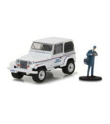 "1991 Jeep Wrangler YJ ""Mail Carrier"" with Mail Carrier Solid Pack - The Hobby Shop Series 1"