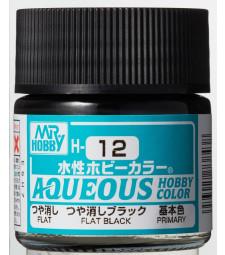 H-012 Flat Black (10ml) - Mr. Color