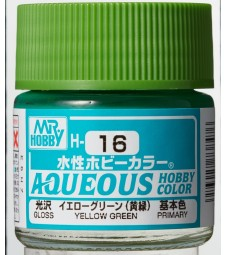 H-016 Gloss Yellow Green (10ml) - Mr. Color for Car Models