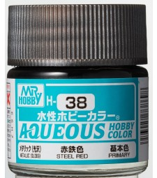 H-038 Metallic Steel Red (10ml) - Mr. Color