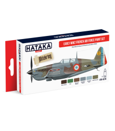 HTK-AS16 Early WW2 French Air Force paint set (6 x 17 ml) - RED LINE - AIRBRUSH DEDICATED