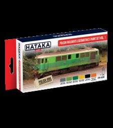HTK-AS40 Polish Railways locomotives paint set vol. 1 (6 x 17 ml) - RED LINE - AIRBRUSH DEDICATED