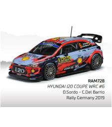 Hyundai i20 WRC, No.6, WRC, Rallye Germany D.Sordo/C.Del Barrio, 2019
