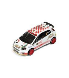 2009 Abarth Grande Punto S2000 #2 G. Basso/M. Dotta Rally Monte Carlo, white/red