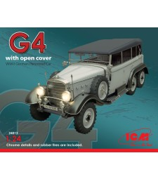 1:24 Typ G4 with open cover, WWII German Personnel Car