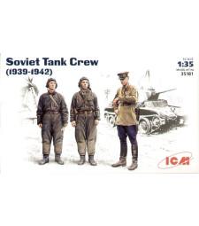 1:35 Soviet Tank Crew (1939-1942)    (3 figures - 1 officer, 2 tankmen)