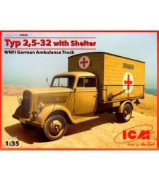1:35 Typ 2,5-32 with Shelter, WWII German Ambulance Truck