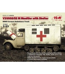 1:35 V3000S/SS M Maultier with Shelter, WWII German Truck