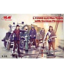 1:35 L1500S LLG, Fire Truck with German Firemen