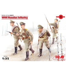 1:35 WWI Russian Infantry, (4 figures)