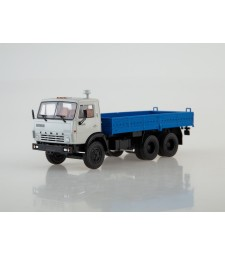 KAMAZ-5320 Flatbed Truck, Grey-Blue