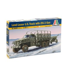 1:35 LEND LEASE U.S.TRUCK with  ZIS-3 gun