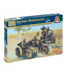 1:72 WWII - GERMAN MOTORCYCLES