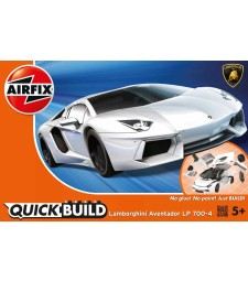 QUICKBUILD Lamborghini Aventador - White - Snap Fit