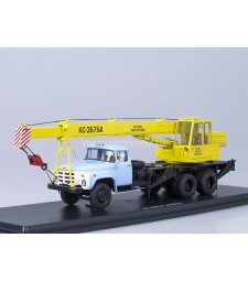 Crane truck KS-3575A (ZIL-133GYA) /yellow-blue/