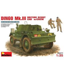 1:35 Daimler Dingo Mk 3 with crew - armoured car and 2 figures