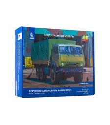 "KAMAZ-53501 6x6 ""Mustang"" Flatbed Truck - Die-cast Model Kit"
