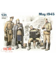 1:35 May 1945 (4 figures - 1 officer 2 soldiers 1 military servicewoman)