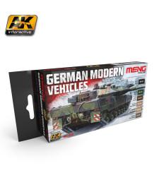 MC802 GERMAN MODERN VEHICLES COLORS SET  - MENG Line Acrylic Paint Set (6 x 17 ml)
