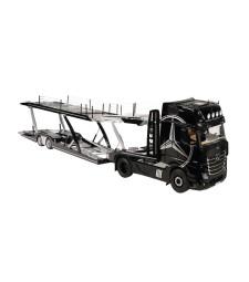 MERCEDES BENZ ACTROS GIGASPACE 4X2 black with decor + Lohr car transporter