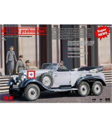 1:35 Mercedes-Benz G4 (1939 production) German Car with Passengers (4 figures)