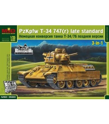 1:35 Pz.Kpfw.747 T-34(r) Tank, the German modification of the Т-34-76, Late version