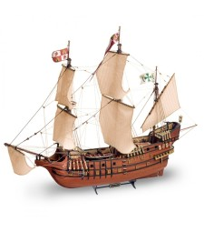 1:90 San Francisco II (2017) with metal figures - Wooden Model Ship Kit
