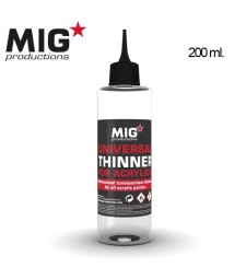 P263 Universal Thinner for Acrylics 200ml