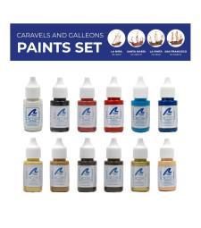 Paints Set: Caravels and galleons - 12 x 20 ml