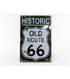 METAL PLATE HISTORIC ROAD 66 OLD HOLE (20 X 30 cm)