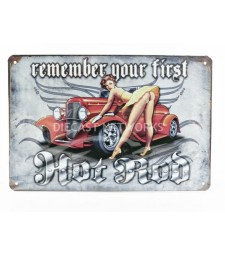 METAL PLATE - REMEMBER YOUR FIRST HOT ROT (20 x 30 cm)