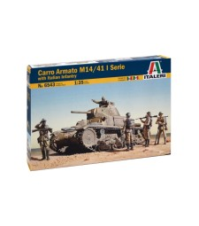 1:35 CARRO ARMATO M14/41 with BERSAGLIERI - 6 figures